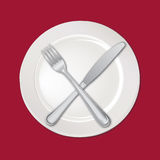 Empty plate isolated. Royalty Free Stock Photos