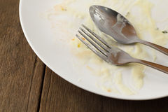 Empty plate after meal. Royalty Free Stock Photo