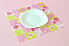 Empty plate on napkin Stock Image