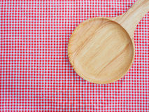Empty plate on red checked tablecloth. Stock Photography