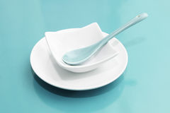 Empty Plate Setting Stock Photography