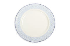 Empty plate with soft shadow Royalty Free Stock Photos