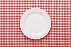 Empty plate at the table stock photography
