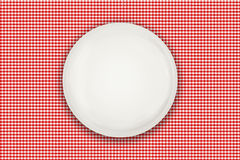 Empty plate on table Stock Images