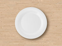 Empty Plate on Table Royalty Free Stock Photography