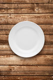 Empty plate top view Royalty Free Stock Photos