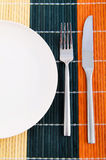 Empty plate with utensils Stock Photography