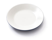 Empty plate on a white Stock Image