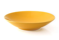 Empty plate on white Royalty Free Stock Photos