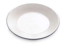 Empty plate on a white background Royalty Free Stock Photography