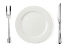 Free Empty Plate With Fork And Knife Stock Image - 52338621