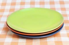 Empty plates Stock Photo
