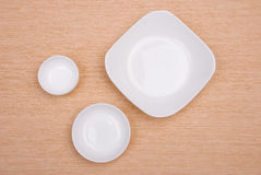 Empty plates Stock Images