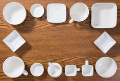 Empty plates and bowls Royalty Free Stock Image