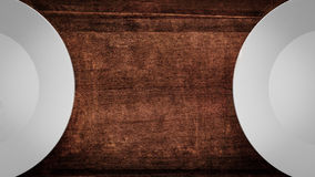 empty plates on a wooden table Royalty Free Stock Photo