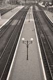 An empty platform Stock Image