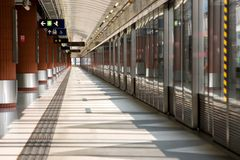 Empty platform. In Hong Kong, which is very rare Royalty Free Stock Photo