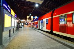 Empty platform inside Hamburg central train statio Stock Images