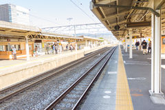 Empty platform in the Kyoto station Stock Image