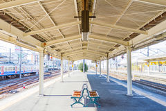 Empty platform in the Kyoto station Royalty Free Stock Photo