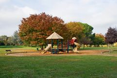Empty playground. In the park Royalty Free Stock Photos