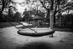 Empty playground attraction. In Frankfurt Royalty Free Stock Images