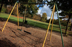Empty playground in autumn Royalty Free Stock Photography