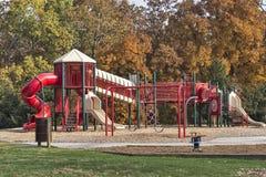 Empty playground in autumn Royalty Free Stock Photos