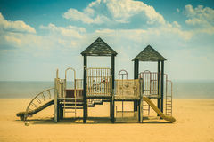 Empty playground on the beach Stock Images