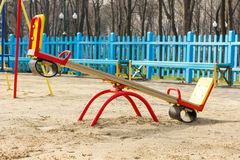 Empty playground for children Stock Photography