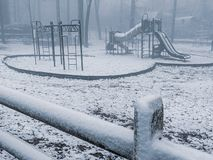 Snowy Playground stock photography