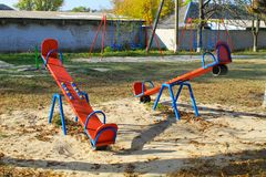 Empty playground in the park Royalty Free Stock Photos
