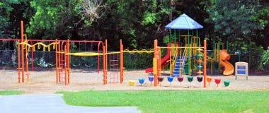 Empty Playground. Silent playground at school yard Stock Photo