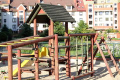 Empty playground and sunny day Stock Photography