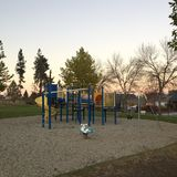 Empty playground at sunset Royalty Free Stock Image