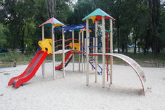 Empty playground in the yard Royalty Free Stock Photography