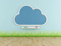 Empty playroom with cloud chalkboard Royalty Free Stock Image