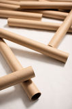 Empty plotter rolls. Abstract composition of empty rolls for A1 plotter Stock Images