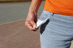 Empty pocket, out of money Royalty Free Stock Images