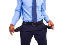 Empty pockets Stock Image