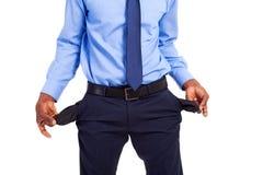 Empty pockets Stock Image