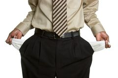 Empty Pockets. Business man with empty pockets Royalty Free Stock Image