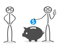 Empty pockets and accumulation capital, savings -. Stock Stock Photography