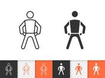 Empty Pockets simple black line vector icon royalty free illustration