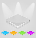 Empty podium for exhibition. Set of colored empty podiums for exhibition Royalty Free Stock Image
