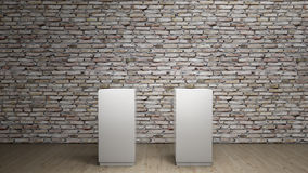 Empty podiums Royalty Free Stock Images