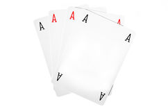 Empty poker cards Royalty Free Stock Photography