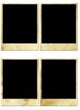 Empty polaroids Stock Photos
