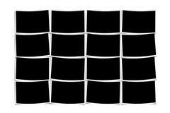 Empty polaroids over white background. Set of empty polaroids over white background Royalty Free Stock Image