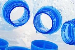 Empty polycarbonate plastic bottles Stock Images